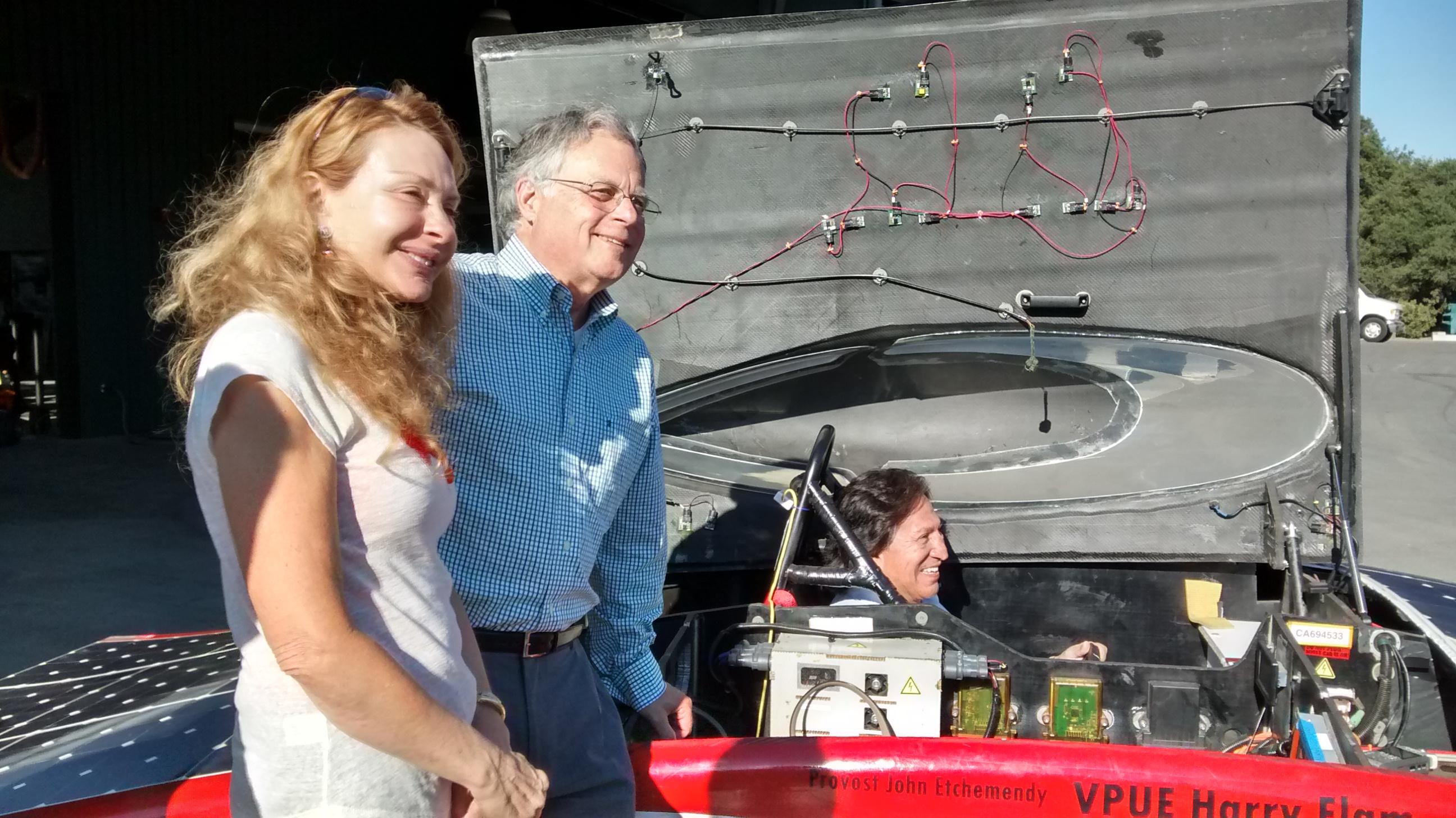 From left to right: Ms. Eliane Karp, Dr. Richard Swanson, President Alejandro Toledo.