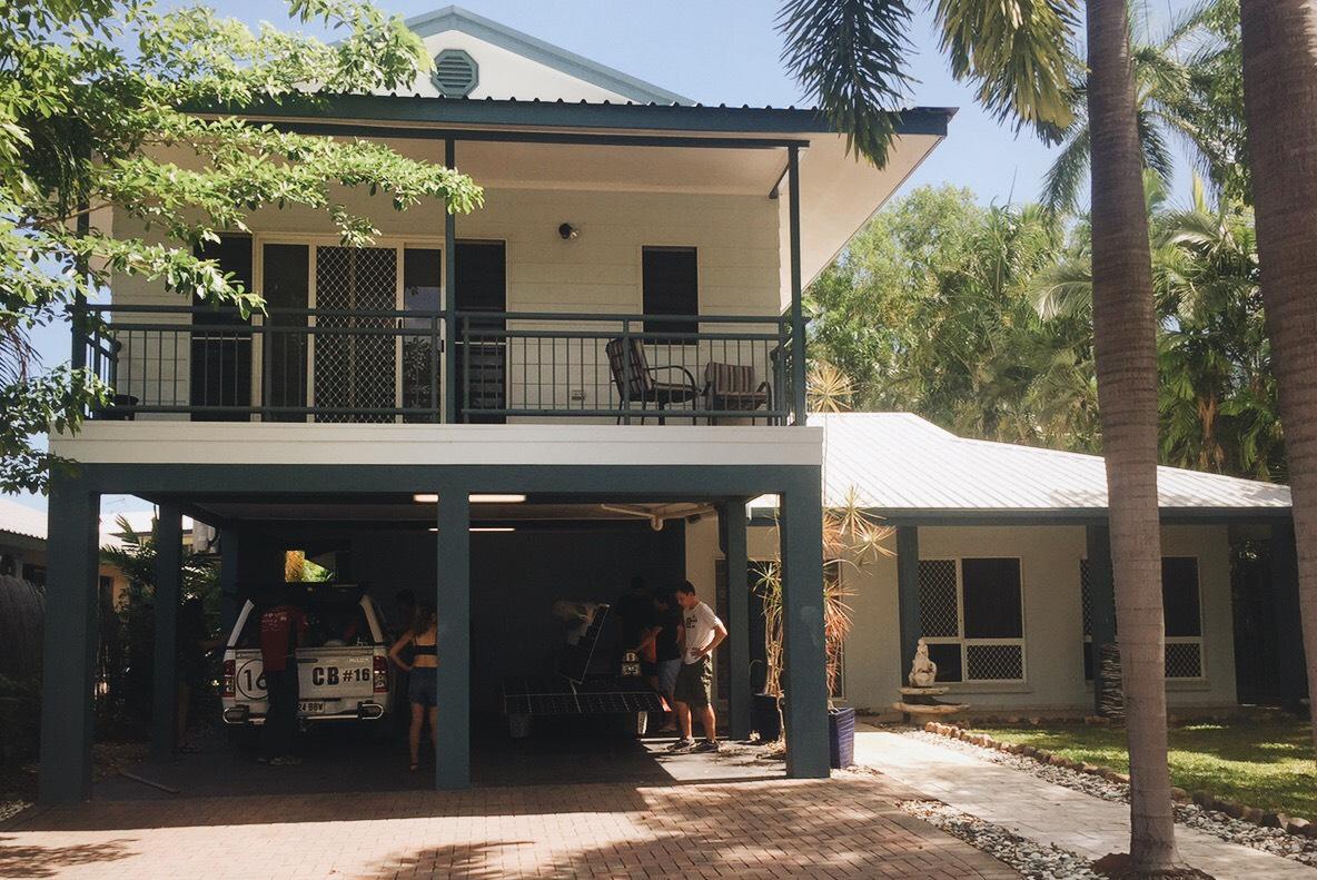 Arctan and the team at our Darwin house. Photo Credits Alex Lubkin and Anna Olson.