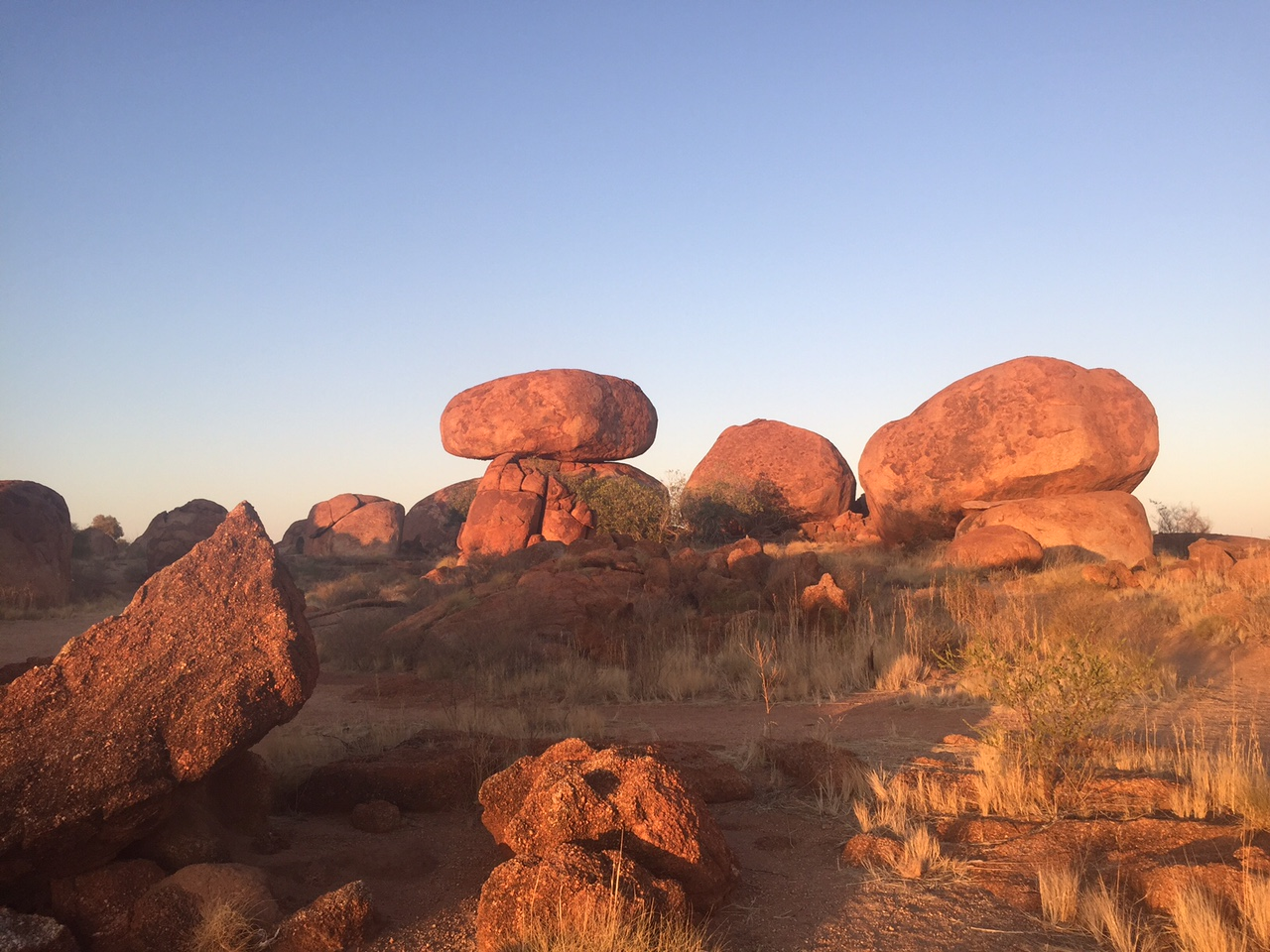 Devil's Marbles, a famous rock formation along the Stuart Highway. Photo Credits Alex Lubkin