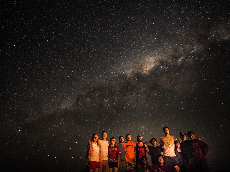 The team with the Milky Way in the Outback. Photo Credits Emily Henriksson.