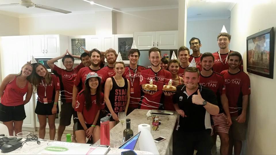 The team celebrating Michael's 26th birthday! Photo Credits Darren Chen
