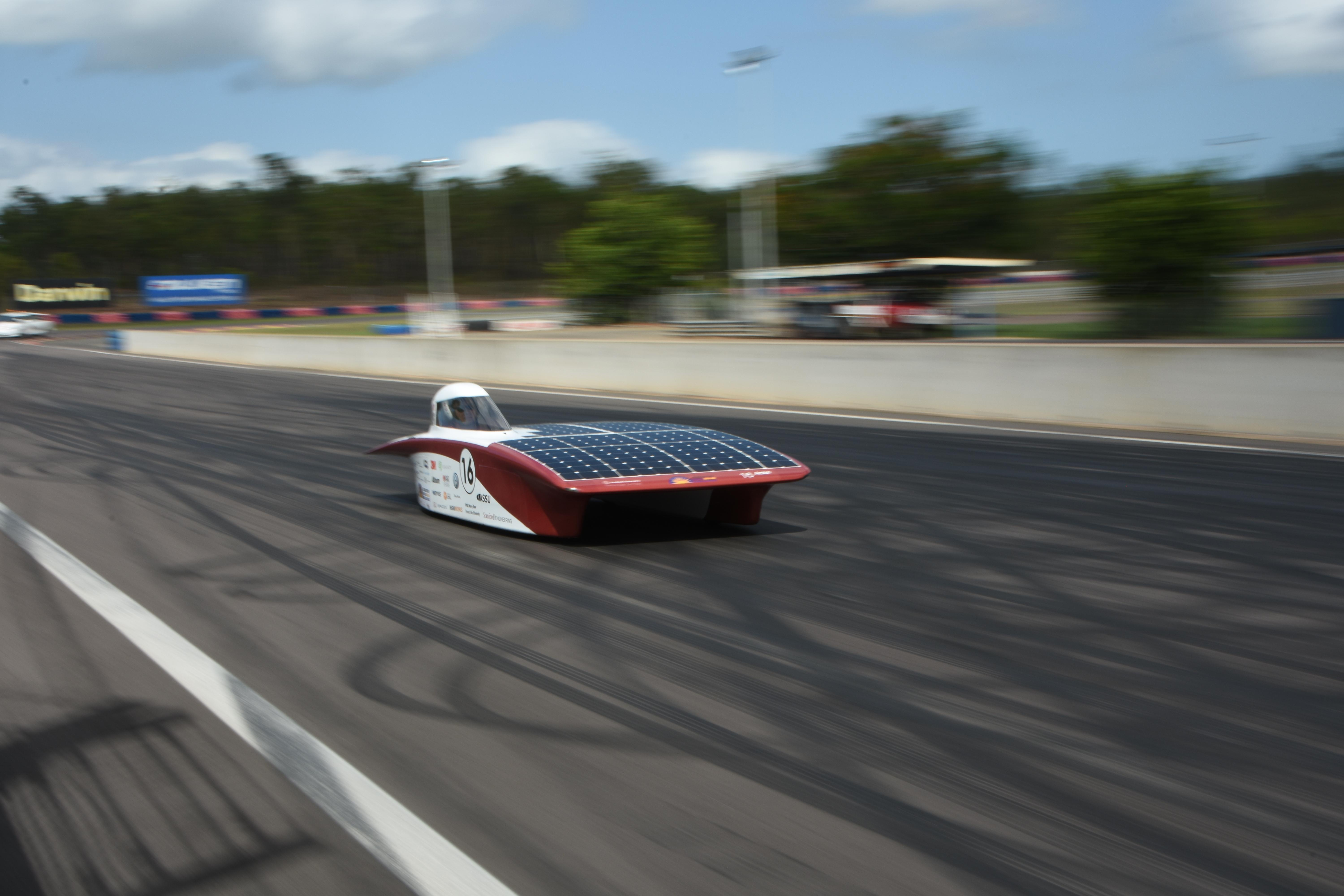 Testing Arctan at the Hidden Valley Raceway. Photo Credits Rachel Abril