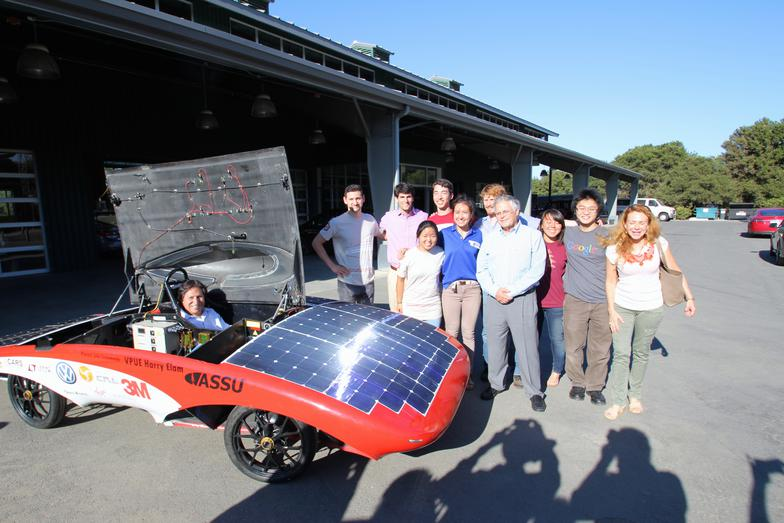 President Toledo in Luminos, along with team members and Dr. Swanson of Sunpower