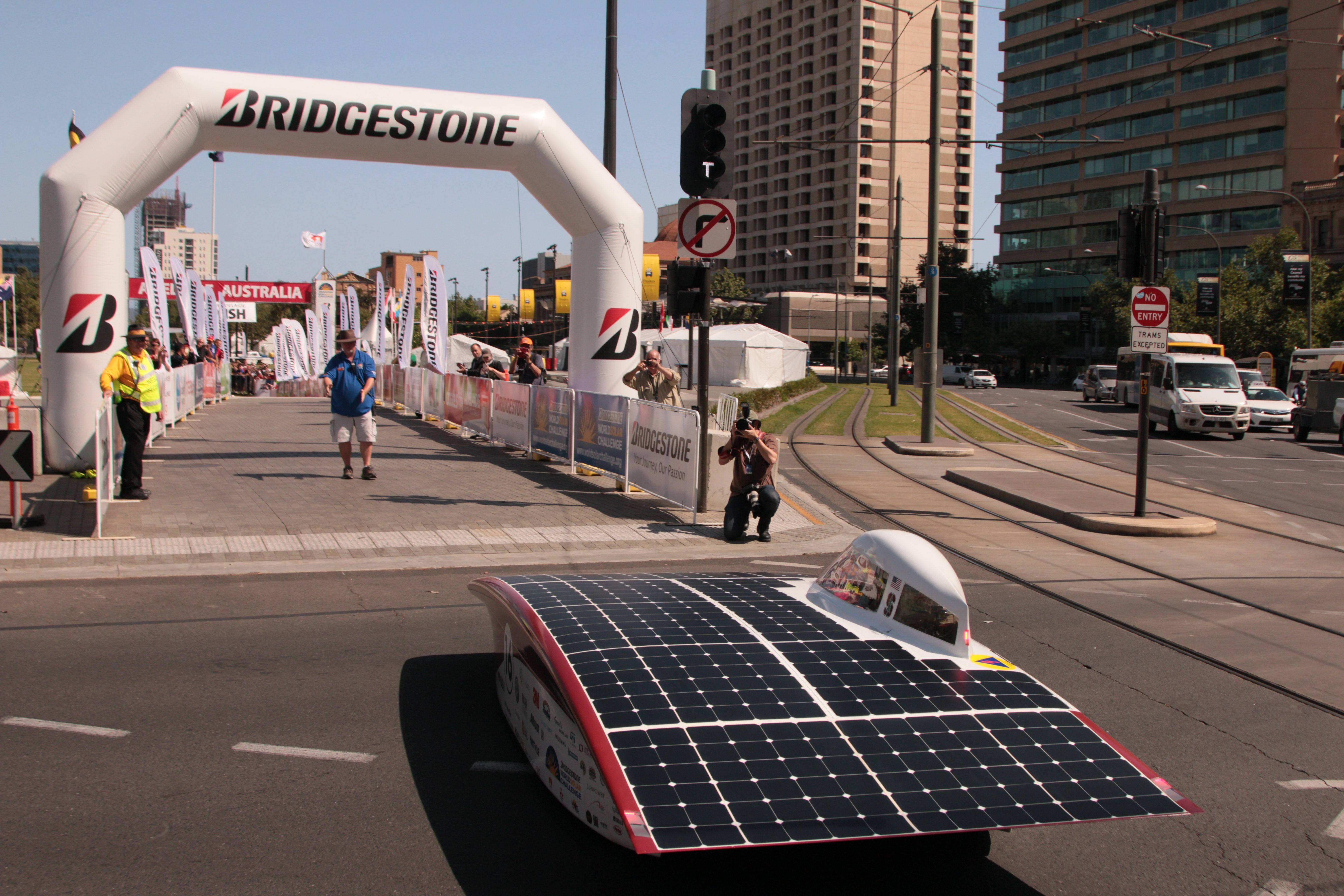 Arctan approaching the finish line at Victoria Square in Adelaide. Photo Credits Hayden Hall